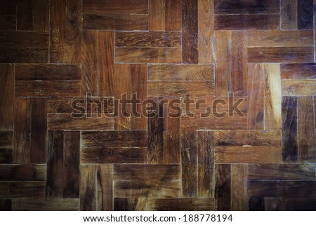 wood parquet floor texture background - stock photo