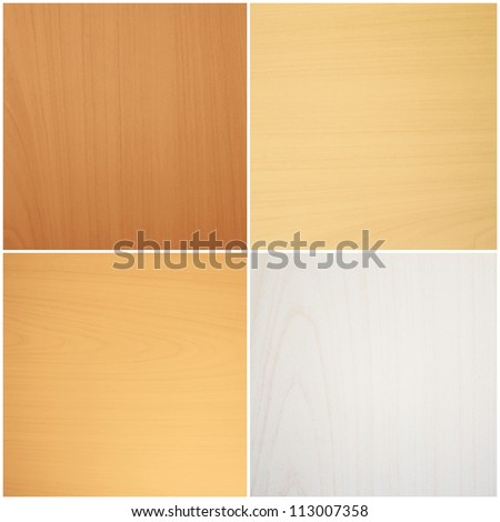 Wood pattern background collection - stock photo