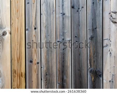 wood pattern fence - stock photo
