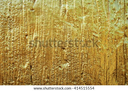 Wood pattern print on concrete with golden color