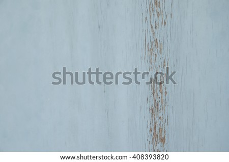 Wood peeling paint.