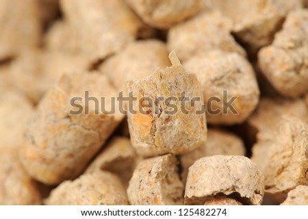 Wood Pellet (Pine) Cat Litter Close-Up - stock photo