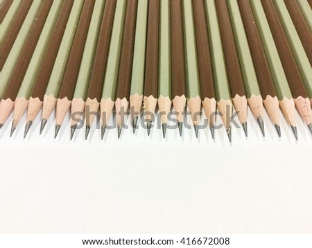 Wood pencil isolated on white background