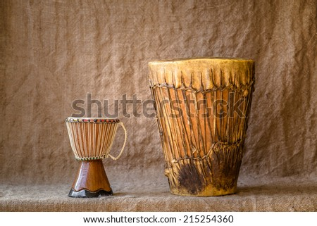 Wood percussion instruments - stock photo