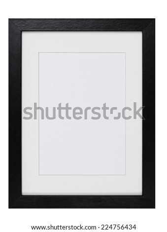 wood Picture Frame isolated - stock photo