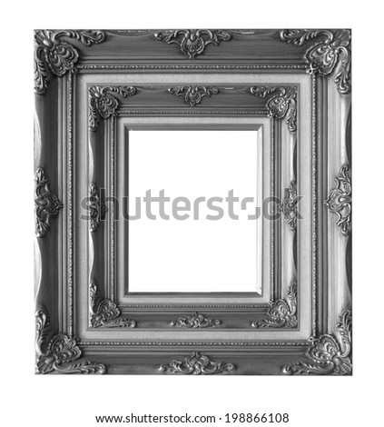 Wood picture frame isolated on white background.
