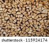 wood pieces - rhomb shape - stock photo
