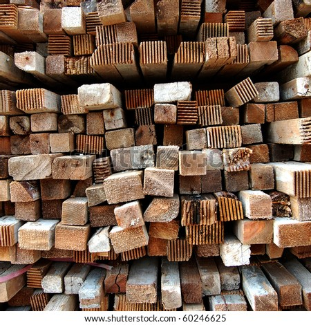 Wood, piling up - stock photo