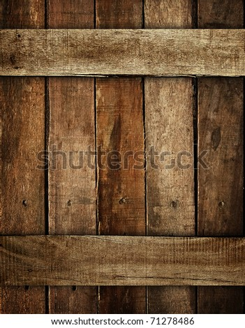 wood plank background - stock photo