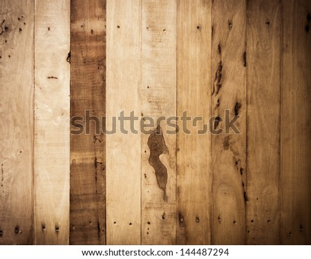 Wood plank brown texture background - stock photo