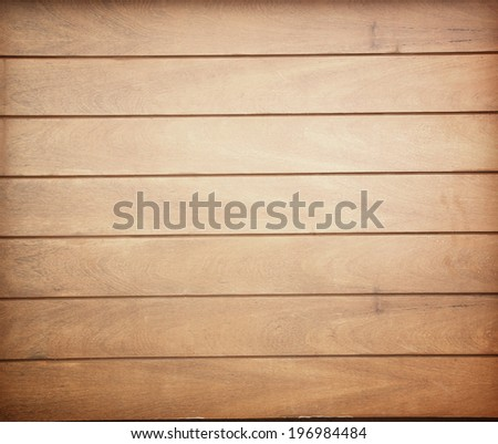 Wood plank brown texture background golden teak Thailand. - stock photo