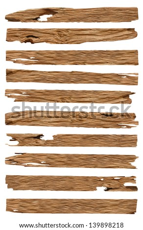 Wood plank isolated on background, With objects with clipping paths for design work