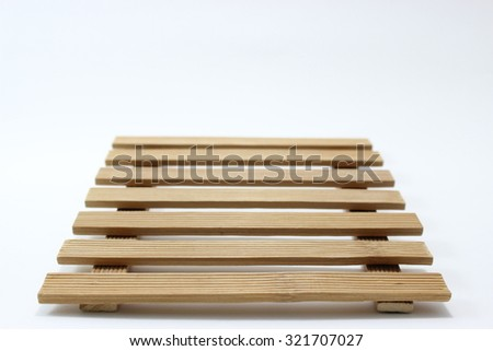 wood plank isolated on white