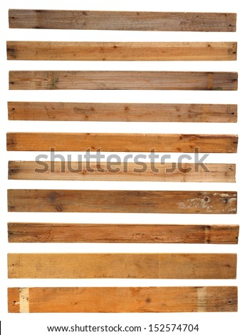 Wood plank, isolated on white background ( Objects with clipping paths for design work ) - stock photo