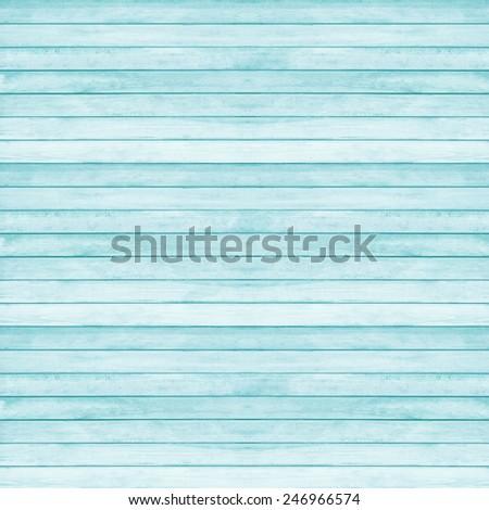 Wood plank texture for background, Aquamarine pantone color  - stock photo