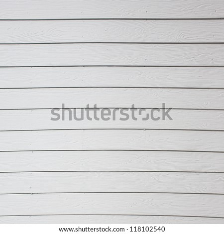 Wood plank white texture background - stock photo