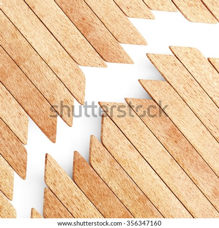 Wood planks background. 3d render