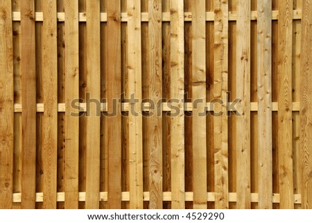 Wood Privacy Fence - stock photo