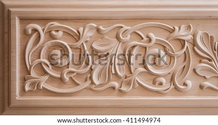 Wood carving stock images royalty free images vectors for Furniture carving patterns