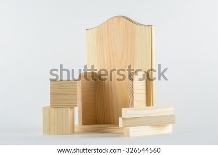 wood products on a white background