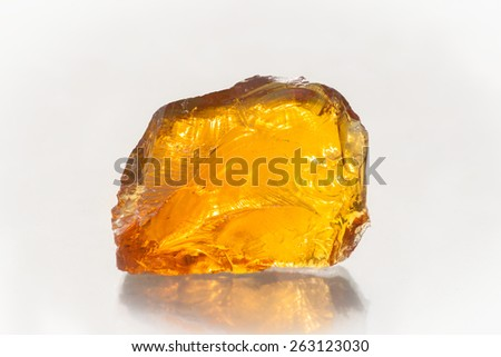 wood resin on white background. - stock photo