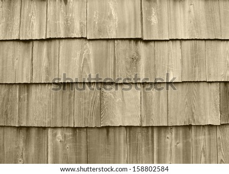 wood roof pattern - stock photo