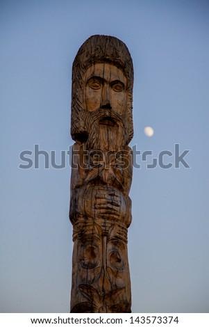 Wood Sculpture - stock photo