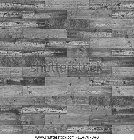 Wood seamless black and white parquet texture - stock photo