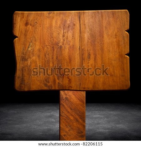 wood sign - stock photo