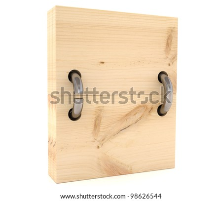 Wood signboard. 3D model isolated on a white background - stock photo