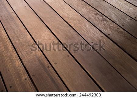 Wood slabs background - stock photo