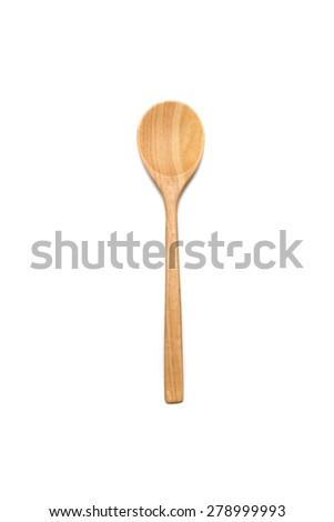 wood spoon  isolated on wite background