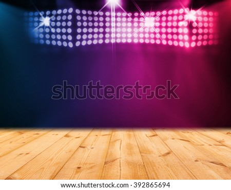 Wood stage background - stock photo
