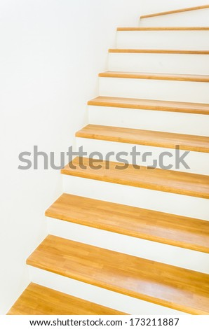 Wood staircase interior
