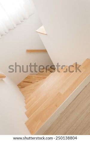 Wood stairs, interior