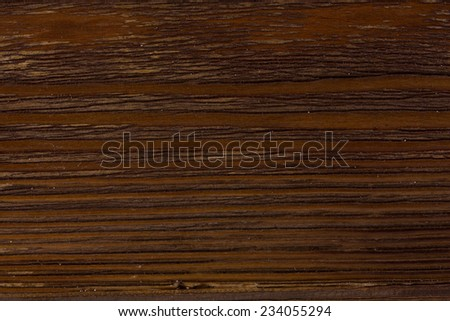 Wood surface, dark brown, varnished, beautiful texture - stock photo