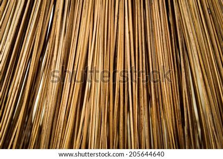 wood sweep - stock photo