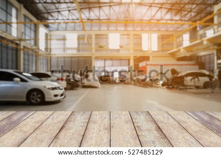 wood table top car repair service stock photo 527485129 shutterstock. Black Bedroom Furniture Sets. Home Design Ideas