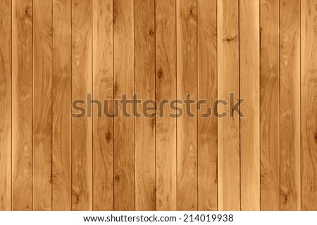 wood teak plank wall with vertical strip pattern - stock photo