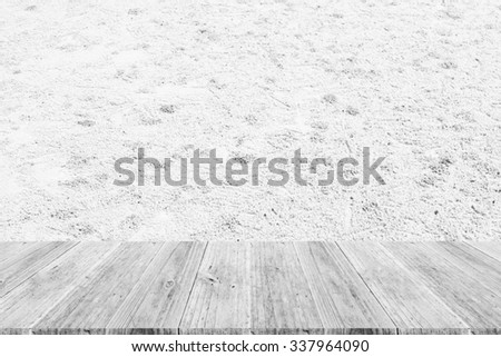 Wood terrace and Sand texture background surface white color