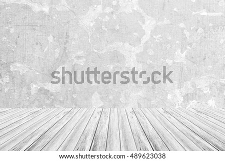 Wood terrace and Wall texture background surface white color