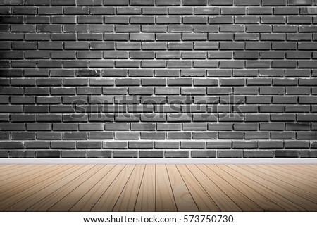 Wood Terrace With A Background Bricks Wall Design Ideas Within The  Building.Wood Floors On