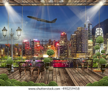 City Terrace View Stock Photos Royalty Free Images Vectors