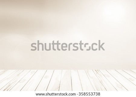 Wood terrace with the blurred background. blurred concept.Christmas background.Green Energy.warm sky sunny color green light patterns plain abstract flare evening clouds blur - stock photo