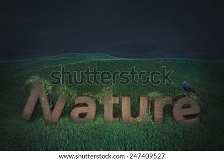 wood text nature tree green symbol eco business type wooden logo banner pattern ecology font