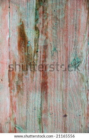 Wood texture background. With cracks and sand. From a scaffolding. - stock photo