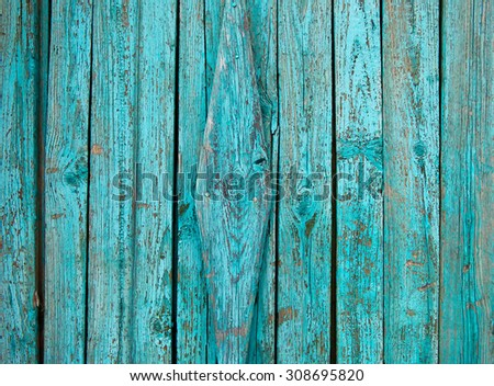 Wood Texture Background with natural pattern, turquoise color