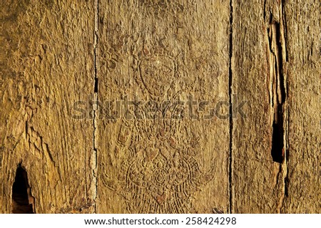 Wood texture, carve wood, wood background - stock photo
