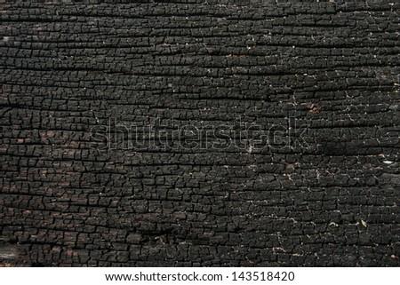 wood texture dark black - stock photo