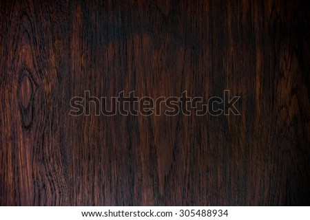 wood texture - dark design lines brown blank plank surface shiny wooden wall floor frame exterior panel timber material background - stock photo